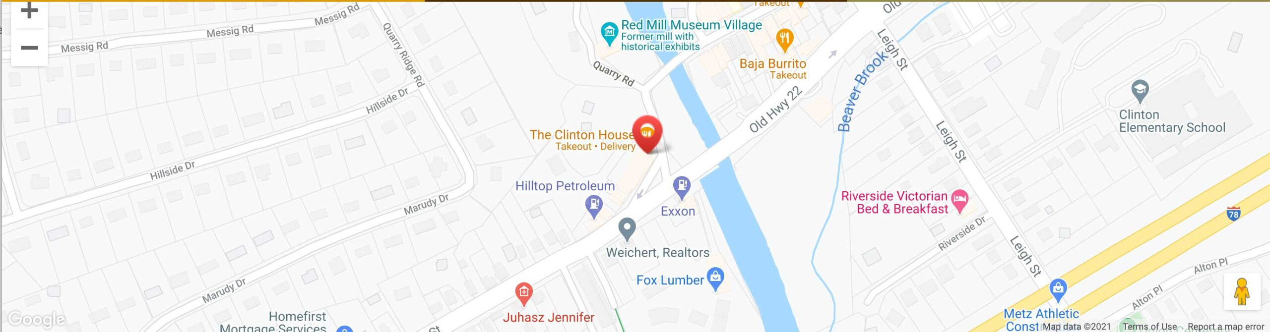 Map for Clinton House Restaurant